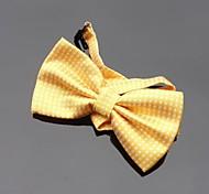 dos homens xinclubna® ouro amarelo bolinhas gravata borboleta ajustável (1pc)