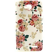 Flower Pattern TPU Soft Back Cover for LG L70