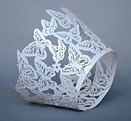 12pcs laser Cut Butterfly Paper Cupcake Wrapper Baking Cake Cups Wraps Wedding Birthday Party Decorations Supply