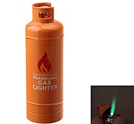 6775 Fashion Gas-Jar Model Zinc Alloy Butane Windproof Lighters(Assorted Colors)
