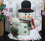 Christmas Gift Snowman With Showcase ,Fabric