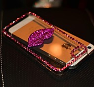 4.7 Inch The Kiss Style with Diamond Hard Back Cover for iPhone 6(Assorted Colors)