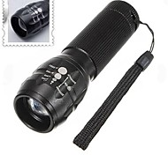 Lights LED Flashlights/Torch / Handheld Flashlights/Torch LED 500 Lumens 3 Mode AAA Adjustable Focus / Waterproof / Nonslip grip