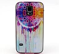 2-in-1-Traumfänger-Muster-TPU rückseitige Abdeckung mit pc autostoßfest weiche Tasche für Samsung Galaxy S5 i9600