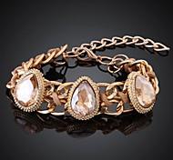Ms Fashion Crystal Gem 18K Gold Plating Bracelets