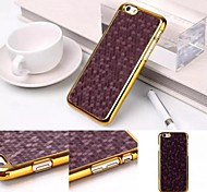 Football Pattern Golden Frame Plastic Back Cover Hard Case for iPhone 6 Plus(Assorted Colors)