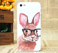 Beautiful Little Rabbit Pattern Hard Cover Case for iPhone 4/4S