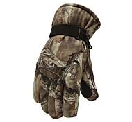 Full-finger Gloves / Winter Gloves Men's Keep Warm / Anti-skidding Ski & Snowboard / Cycling/Bike Brown Wool