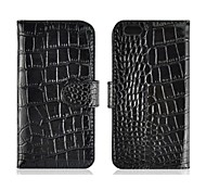 Alligator Pattern Wallet Design Leather Flip Case with Mount Stand  Credit Card Slots for iPhone 6 Plus(Assorted Colors)