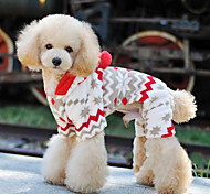 Soft Warm Fleece Snowy day Style Hoodie Jumpsuit for Pets Dogs (Assorted Sizes)