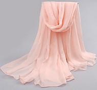 Mode Schnee rosa Chiffonschal Frauen