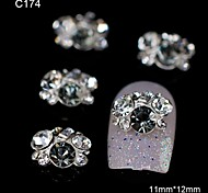 10pcs Rhinestone Group Glitter Grey DIY Alloy Accessories Nail Art Decoration