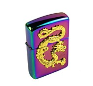Colorful Chinese Dragon Relievo Kerosene Lighter