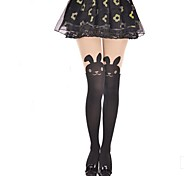 Cute Rabbit Black Sweet Lolita Pantyhose Stockings