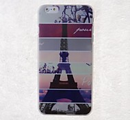Cartoon Eiffel Tower Pattern Back Case for iPhone 6 Plus