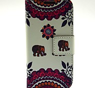 Kiss The Baby Elephant Pattern PU Leather with Case and Card Slot for Samsung S4 Mini I9190