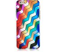 modèle de la ligne de vague gradient dur cas pour l'iphone 6