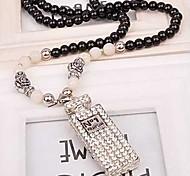 Z&X®  Luxurious Elegent Parfum Bottle Pendant Strands Long Statement Necklace (1 pc)