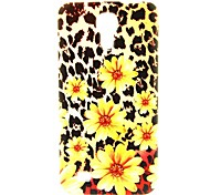 Leopard Flower Pattern Back Cover TPU Soft Case for Samsung Galaxy S4 Mini I9190