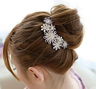 Fashion Crystal Diamond Flower Combs