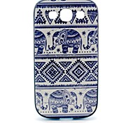 2-in-1 kleiner Elefant Muster TPU rückseitige Abdeckung mit pc autostoßfest weiche Tasche für Samsung i9300 Galaxy S3