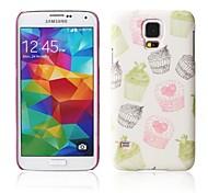 cartoon taart patroon met rubber design case harde case voor Samsung Galaxy S5