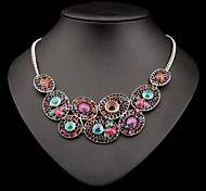 Women's Fashion Vintage Overstate Acrylic Diamante Necklace(More Colors)
