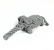 Elephant Style Cotton Rope Toys, Pet Dogs And Cats (1Pcs, Gray)