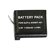 HighPro AHDBT-401 High Capacity 1160mAh Li-ion Replacement Battery for GoPro Hero 4 -Black