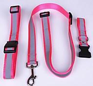 Adjustable Meshbelt Stripe Pattern Leash for Pet Dogs(Random Colour)