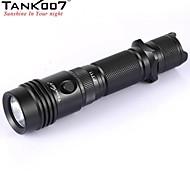 tank007® PT11 taktischen 5-Modus 1xCREE XP-G R5 Taschenlampe (420lm, 2x16340 / 2xcr123, schwarz)