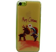 Christmas Reindeer Plastic Hard Back Cover for iPhone 5C