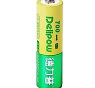 1.2v 700mah Delipow aa batería recargable de níquel-cadmio