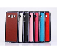 Solid Color Pattern Plastic Cover for Motorola for Samsung Galaxy A3(Assorted Colors)