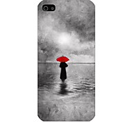 Umbrella Shadow Pattern Back Case for iPhone5/5S