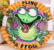 Frog Pattern Frisbee Cotton Rope Chew Toys for Pet Dogs
