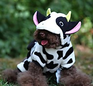 Cute Cow Costume With Hoodie For Pet Dogs(Assorted Sizes)
