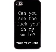 Personalized Phone Case - Fuck Letter Design Metal Case for iPhone 4/4S