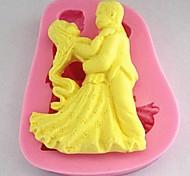 dança fondant ferramentas de silicone bolo bolo molde decoração, l7cm * * w8.7cm h1.6cm