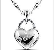 925  Women's Heart Print Necklace
