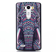 Elephant Pattern PC Hard Back Cover Case with Anti-dust Plug and Stand for LG G3