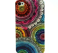 The Kaleidoscope Of Sun Flowers Pattern TPU Soft Case for iPhone 4/4S