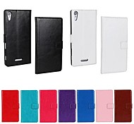 Solid Color PU Leather Full Body Case with Stand and Card Slot for Sony Xperia T3 (Assorted Color)