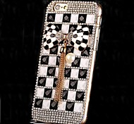 LUXURY Diamonds Pearl Crystal Bowknot Back Cover Case for iPhone 6