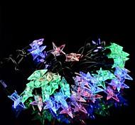 5W RGB LED-50 se encienden las luces de Navidad pentáculo cadena - transparente + negro (220v enchufe / eu)