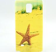 Yellow Starfish TPU Soft Case for Samsung Galaxy Note 4