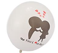 beijo de espessura em balões redondos amor - conjunto de 24