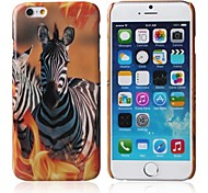 Zebra Pattern Gloss Design Case with Hard Case for iPhone 6