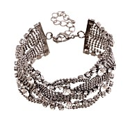 Fashion Full Square Rhinestone Bracelet