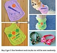 acquistare 2 gilet ottiene 1 libero dell'animale domestico cravatta. gruppo di vendita per cani da compagnia (formati assortiti)